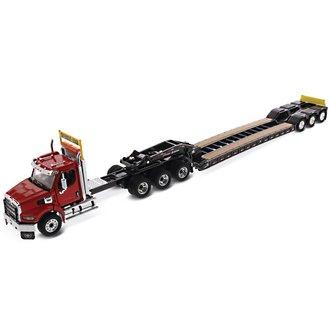1:50 Western Star 49X SB Tridem Tractor w/ XL120 HDG Drop Deck Trailer Single & Tandem Axle Boosters
