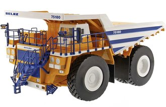 BELAZ Mining Dump Truck (Yellow/White/Blue)