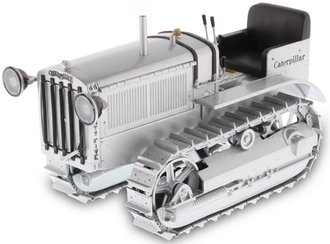 1:16 Caterpillar Twenty-Five Crawler w/Headlights & Metal Tracks (Silver)