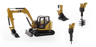 1:50 Caterpillar 308 CR Next Generation Mini Hydraulic Excavator - High Line Series