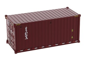 1:50 20' Dry Goods Sea Container (1) (TEX Color) (No Forwarder Printed)
