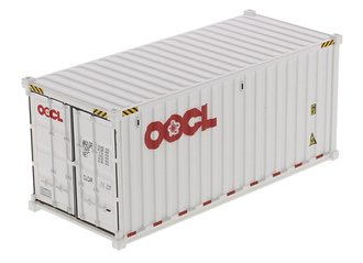 "1:50 20' Dry Goods Sea Container (1) ""OOCL"" (White)"