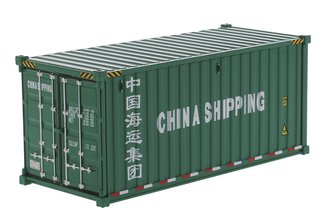 "1:50 20' Dry Goods Sea Container (1) ""China Shipping"" (Green)"