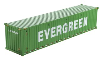 "1:50 40' Dry Goods Sea Container (1) ""EverGreen"" (Green)"
