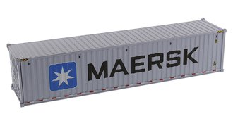 "1:50 40' Dry Goods Sea Container (1) ""Maersk"" (Gray)"