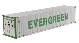 "1:50 40' Refrigerated Sea Container (1) ""EverGreen"" (White)"