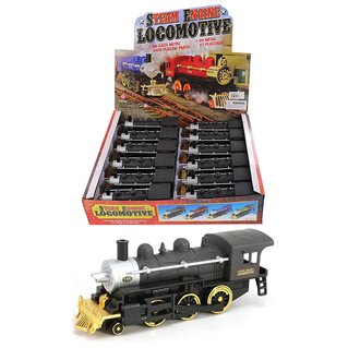 "1:64 Box of 12 - Steam Engine Locomotive (7"")"