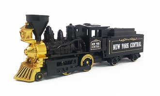 "1:64 Classic Steam Engine w/Coal Tender (10"") (Black)"