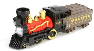 "1:64 Classic Steam Engine w/Coal Tender (10"") (Red)"