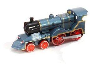"1:72 Classic Train w/Lights & Sounds (6"") (Blue)"