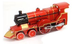 "1:72 Classic Train w/Lights & Sounds (6"") (Red)"