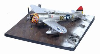 """P-47D-30 """"Five By Five"""" Commanding Officer 362nd FG w/Airfield Base"""
