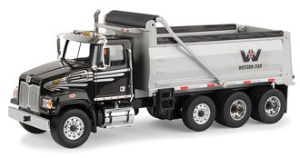 1:50 Western Star 4700 SF Dump Truck (Black/Gray)