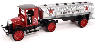 1:38 Texaco #16 1920 Pierce-Arrow w/Tanker Trailer (Red w/Brushed Chrome) (Special Edition)