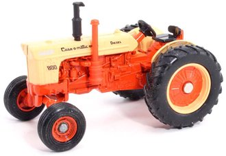 """Case 800 Diesel Wide Front Tractor """"Case-O-Matic"""" """"1990 National Farm Toy Show"""" w/Black Seat & Orang"""
