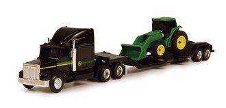 1:64 John Deere Lowboy w/Tractor Front Loader