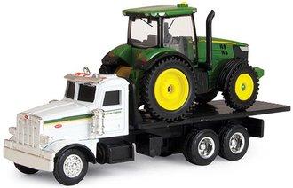 1:64 Peterbilt 367 Flatbed Truck w/John Deere 7R Tractor