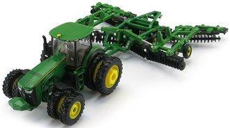 1:64 John Deere 8320R Tractor w/JD 637 Disk