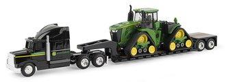 1:64 John Deere Semi w/9570RX Tractor on Lowboy Trailer