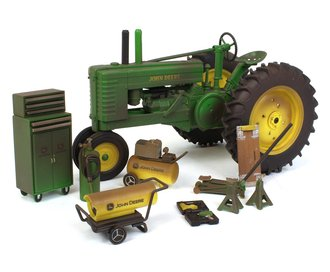 1:16 John Deere Model A Tractor (Weathered Barn Find) w/Accessories