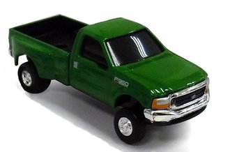 1:64 Ford F-350 Dually Pickup Truck (Green)