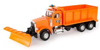 1:16 Peterbilt 367 Snow Plow (Orange)