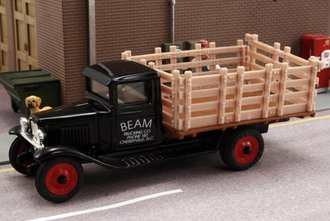 1:43 1930 Chevy Stake Bed Truck (Black)