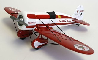 """1:30 Wings of Texaco # 5 - 1930 Travel Air Model R """"Mystery Ship"""" (Red/White)"""