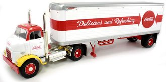 Coca-Cola 1954 GMC w/Great Dane Trailer (White/Red)