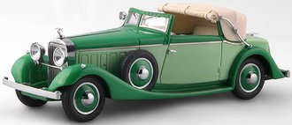 1934 Hispano-Suiza J12 3-Position Drophead Coupe (by Fernandes Darrin) (Half Open) (Green)