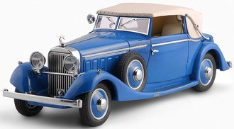 1934 Hispano-Suiza J12 3-Position Drophead Coupe (by Fernandes Darrin) (Fully Closed) (Dark Blue)