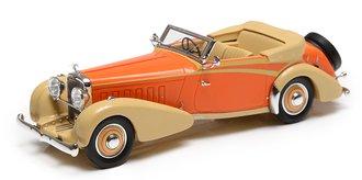 1:43 1934 Hispano-Suiza J12 Cabriolet (Open Roof) (by Vanvooren) (Orange/Beige)
