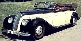 1939 BMW 335 Cabriolet D (Open Roof) (Beige/Black)