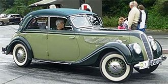 1939 BMW 335 Cabriolet D (Closed Roof) (Two Tone Green)