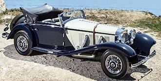 1935 Mercedes-Benz 540K Cabriolet A (Open Top) (Two Tone Blue/Beige)
