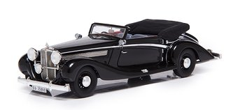 1938 Maybach SW 38 Cabriolet A by Spohn (Open Roof) (Black)