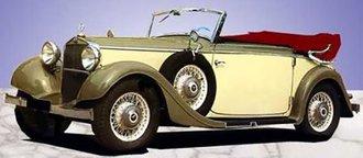 1934-37 Mercedes-Benz 290 W18 Cabriolet C (Open) (Beige/Green)