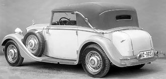 1934-37 Mercedes-Benz 290 W18 Cabriolet C (Closed) (Beige/Light Blue)