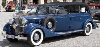 1939 Maybach SW38 Transformation Cabriolet LWB (Closed) (Blue)
