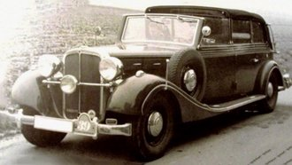 1939 Maybach SW38 Transformation Cabriolet LWB (Open Driver Section) (Black)