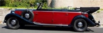 1939 Maybach SW38 Transformation Cabriolet LWB (Fully Open) (Red/Black)