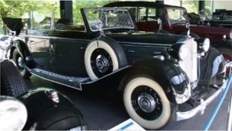 1939 Maybach SW38 Transformation Cabriolet LWB (Open w/Windows Up) (Gray/Black)