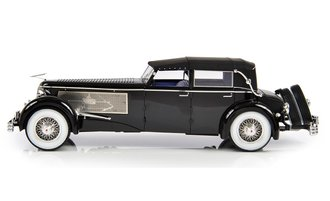 1:18 1937 Duesenberg SJ Town Car 2405 by Rollson for Mr. Rudolf Bauer (Fully Closed) (Black)