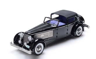 1:18 1937 Duesenberg SJ Town Car 2405 by Rollson for Mr. Rudolf Bauer (Back Only Closed) (Black)