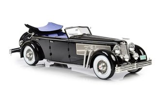 1:18 1937 Duesenberg SJ Town Car 2405 by Rollson for Mr. Rudolf Bauer (Fully Open) (Black)