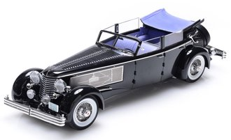 1:18 1937 Duesenberg SJ Town Car 2405 by Rollson for Mr. Rudolf Bauer (Open w/Side Window Up) (B