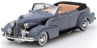 1:43 1939 Cadillac Series 75 Convertible Sedan (Open Roof) (Gray)
