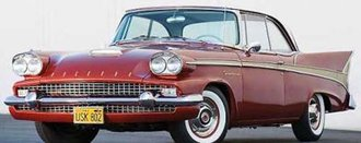 1:43 1958 Packard 58L Hard Top Coupe (Red/White/Gold)