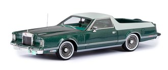 1:43 1979 Lincoln Continental Mark V St. Tropez Pickup by American Custom Coachwork (Red/White)