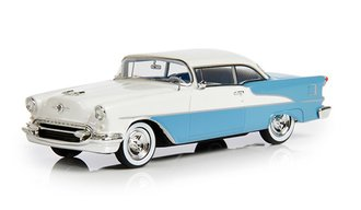 1:43 1955 Oldsmobile Super Holiday Model 88 2-Door Hard Top (Light Blue/White)